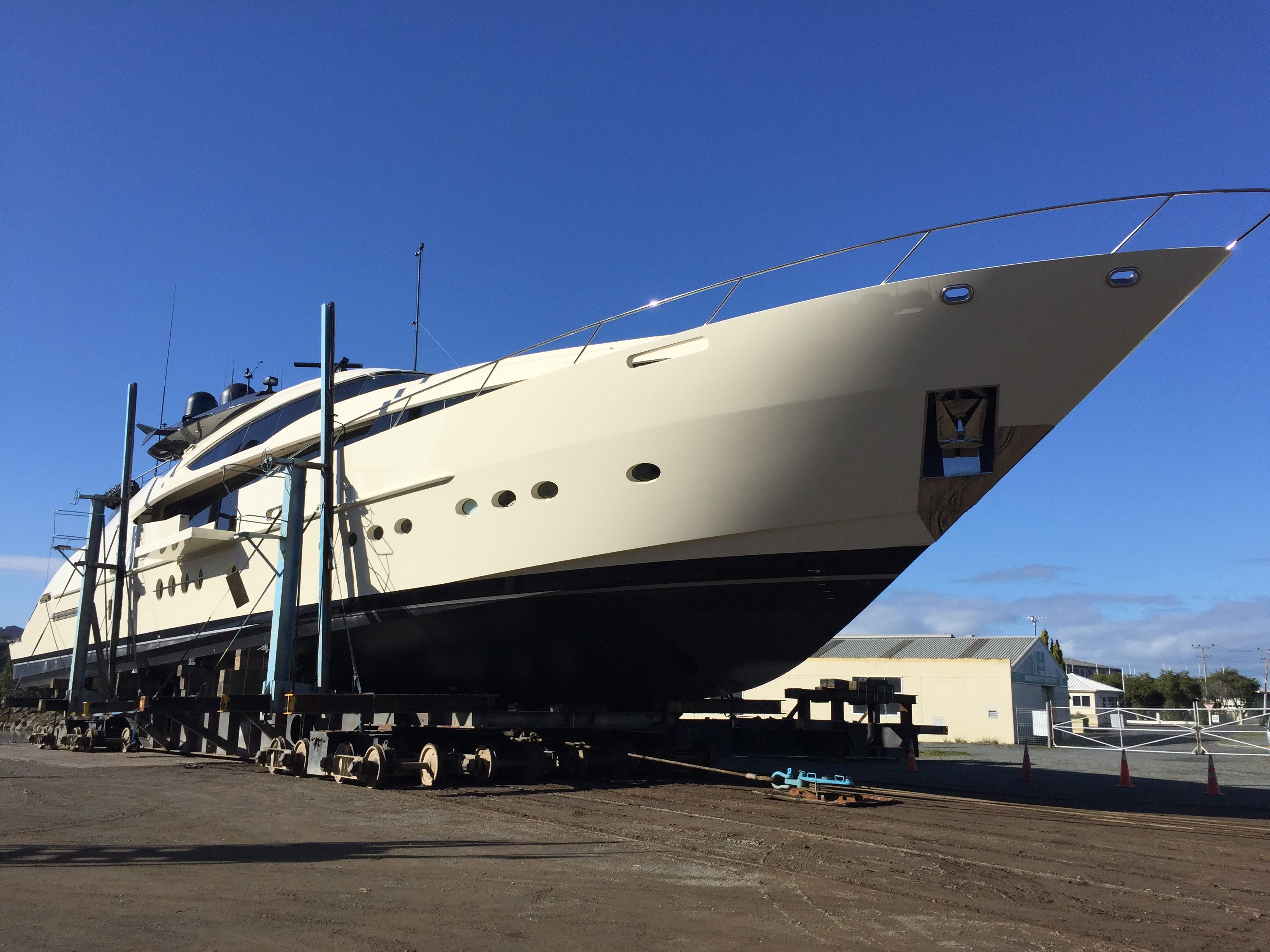 Oceania Marine North Shipyard, Port Whangarei - MY Vantage ready for re-launch