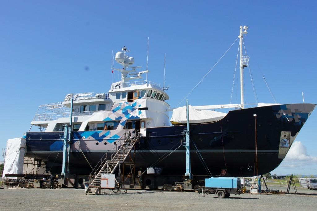 37M Explorer Superyacht Refit Project - Oceania Marine, North Shipyard, Port Whangarei