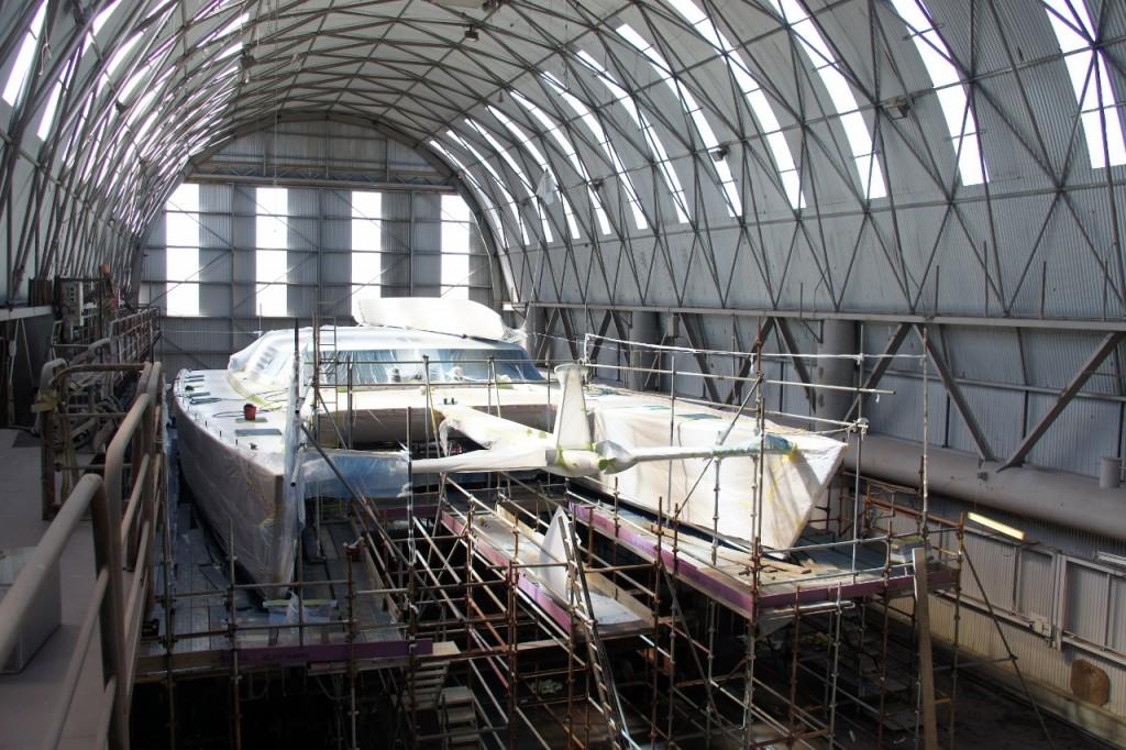 Large Sail Catamaran - Full Repaint and Refit - Oceania Marine, Shed C, North Shipyard, Port Whangarei