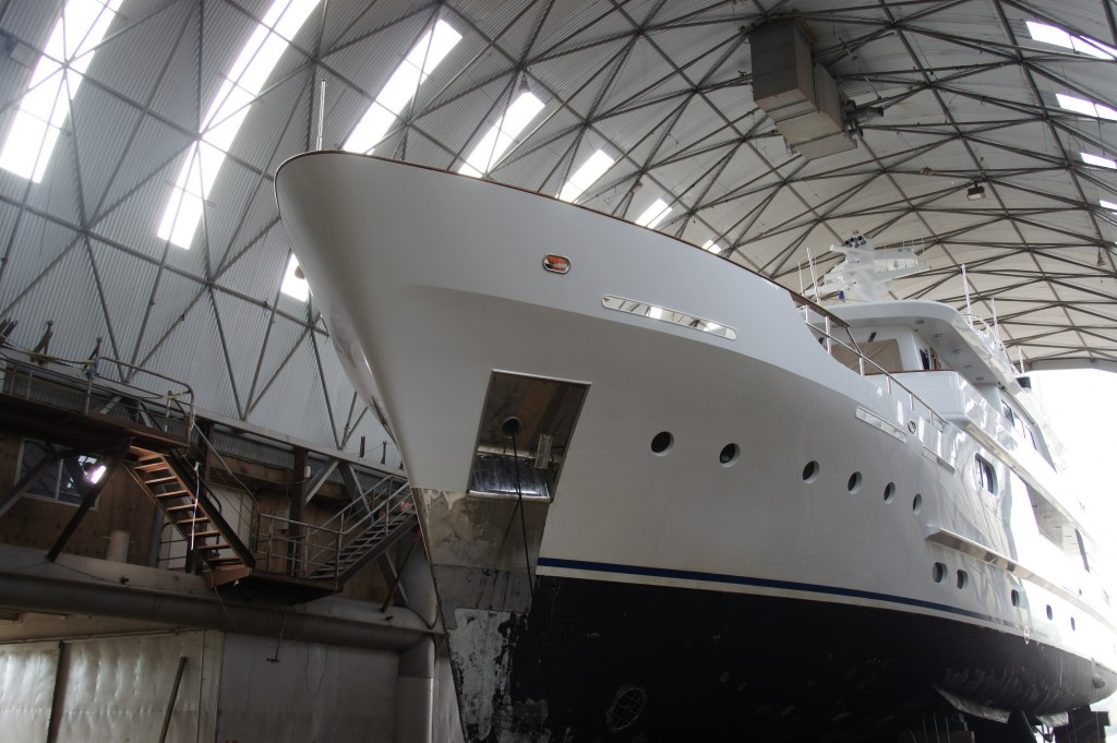 33M Superyacht Relentless - Oceania Marine, North Shipyard, Port Whangarei - Shed D