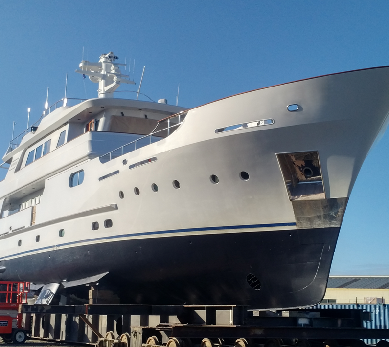 33M Superyacht 'Relentless' Ready for Launch - Oceania Marine, North Shipyard, Port Whangarei, New Zealand