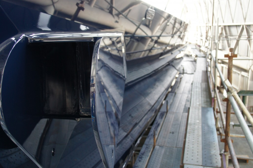Topside Repaint of 43M Superyacht - Oceania Marine Shipyard, Port Whangarei, NZ