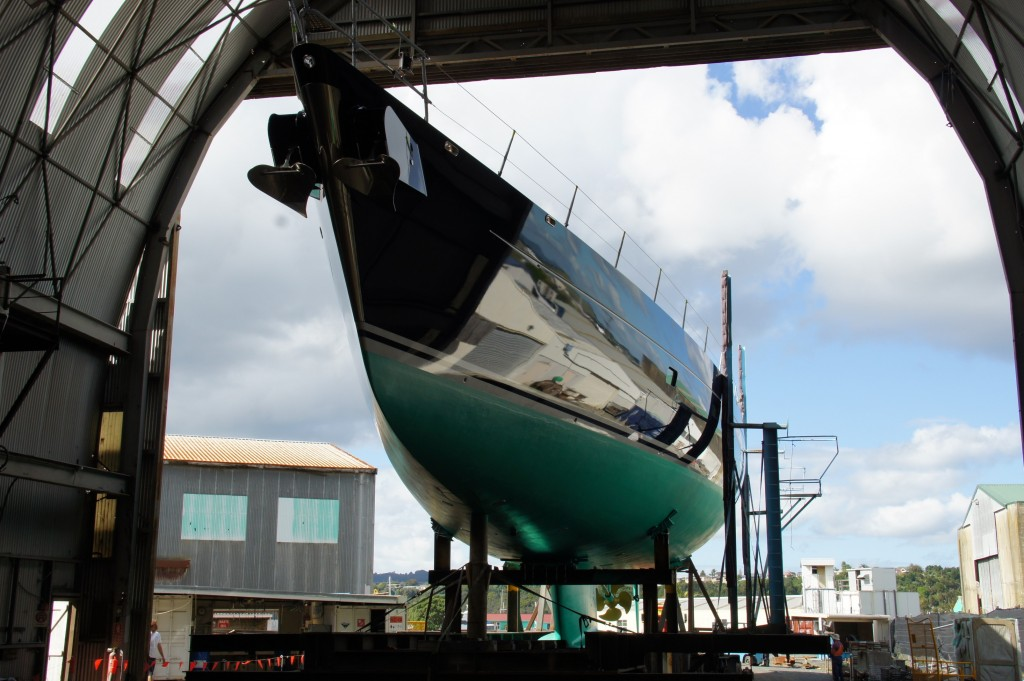 43M Superyacht Bella Regazza Ready For Roll-out From Shed A Oceania Marine Shipyards
